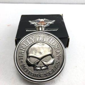 Rare!!! Harley Davidson Round Flask with Skull